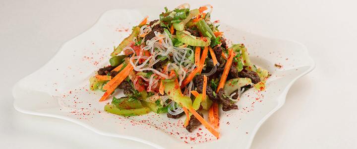 Китайский салат с фунчозой