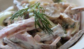 Салат с говяжьим языком – вкусные рецепты