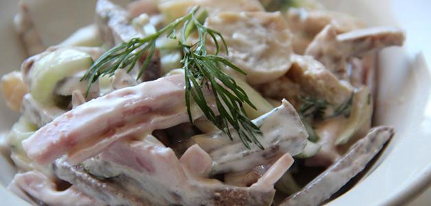 Салат с говяжьим языком - вкусные рецепты