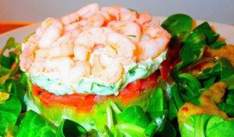 Салат с красной рыбой – 4 легких рецепта