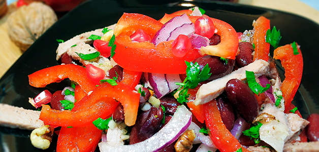 салаты рецепты с красной фасолью с фото