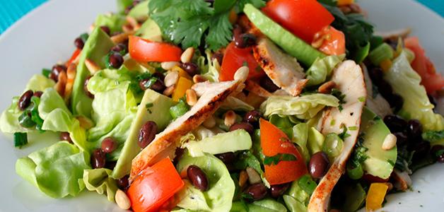 Очень вкусный салат с красной фасолью