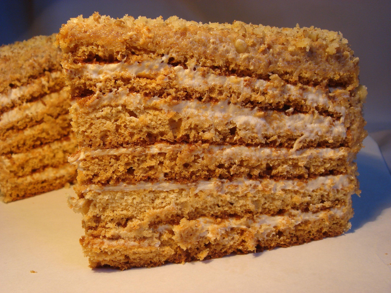 Торт из коржей со сгущенкой