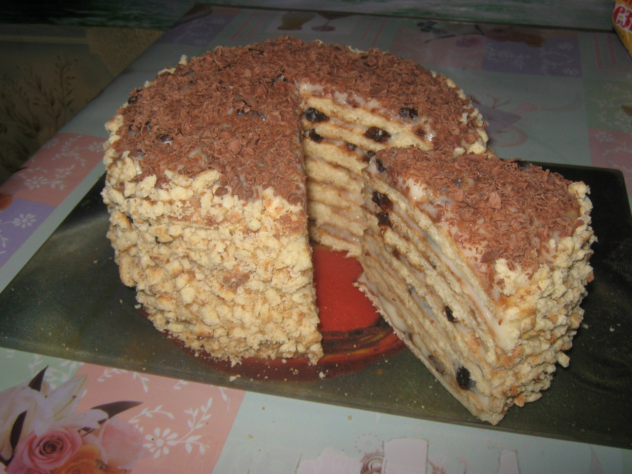 Торт без выпечки со сгущенкой