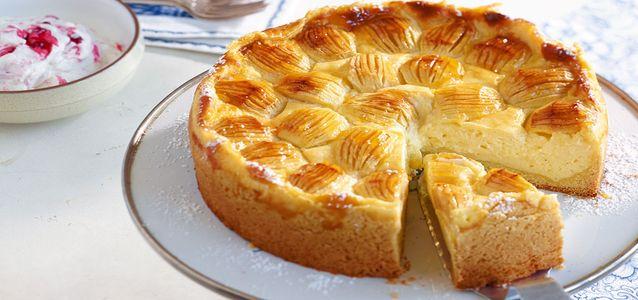 Пирог на кефире из яблок рецепт с