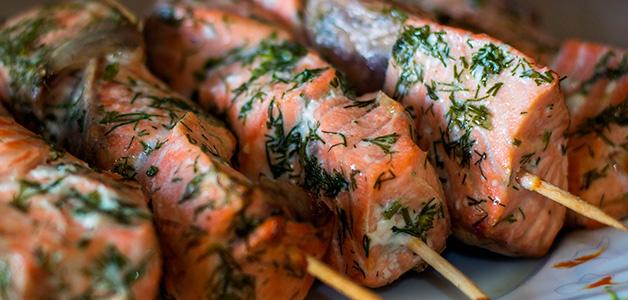 Шашлык из красной рыбы - рецепты вкусного шашлыка