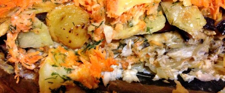 Скумбрия с картошкой вкусная