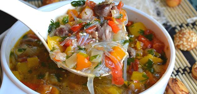 Суп из куриных сердечек и риса
