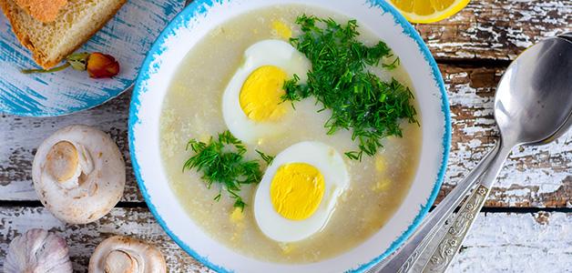Суп из одуванчиков с лимоном