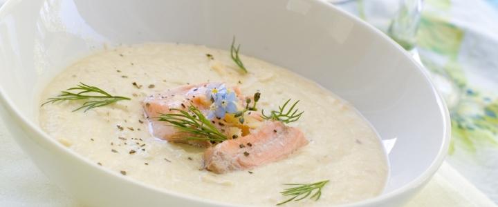 Крем-суп из семги