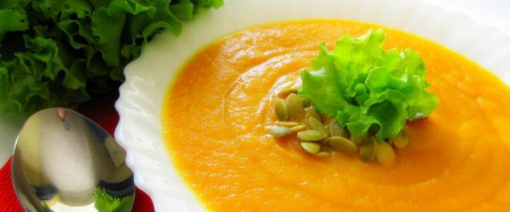 Суп-пюре из тыквы и кабачков