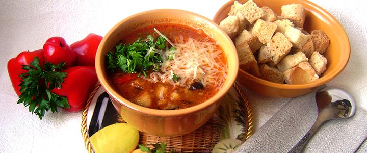 Суп из баклажанов с курицей