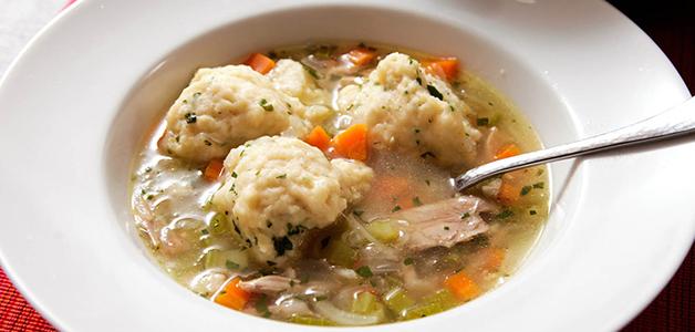 Суп с галушками и курицей