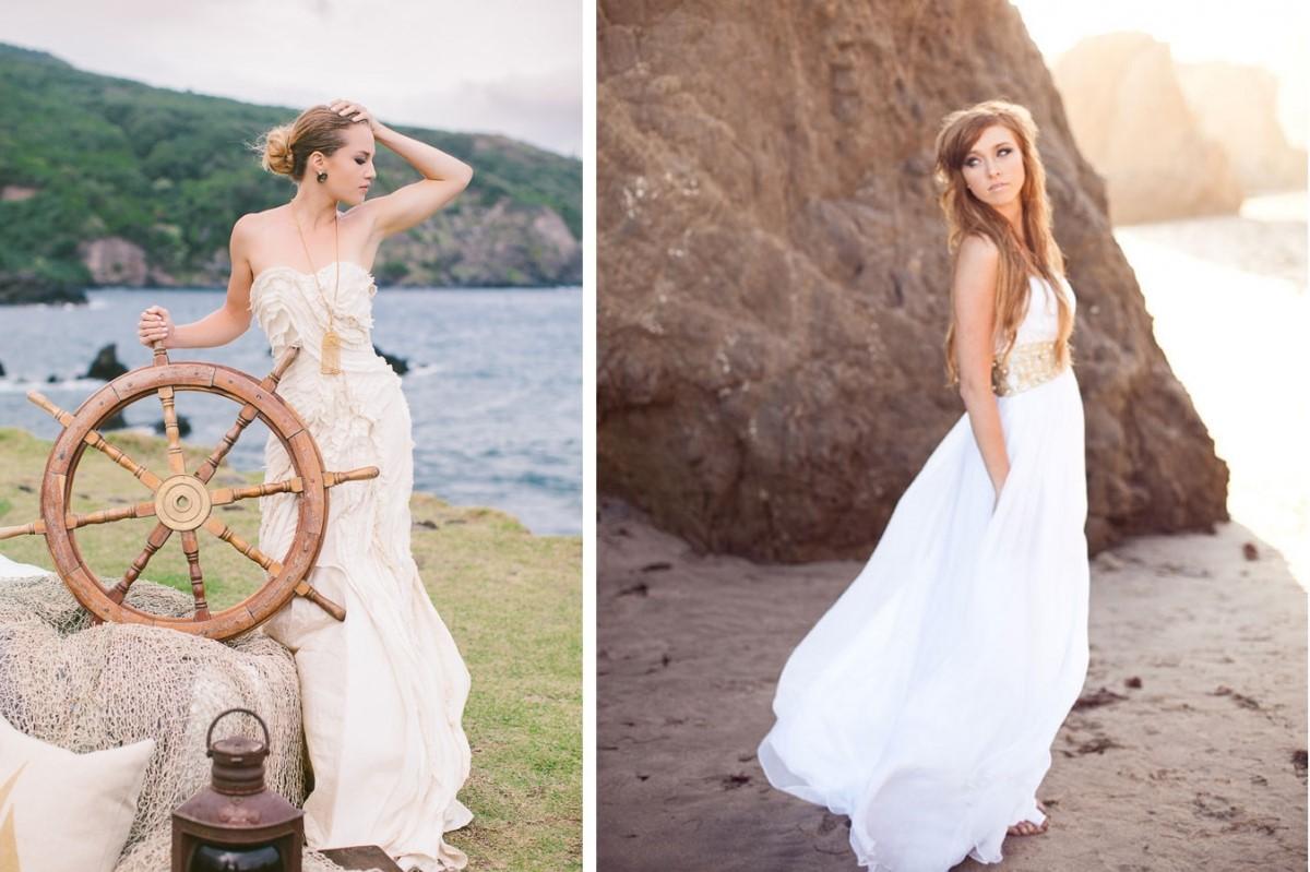 Жених невеста в морском стиле