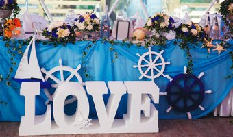 Свадьба в морском стиле – подготовка до мелочей