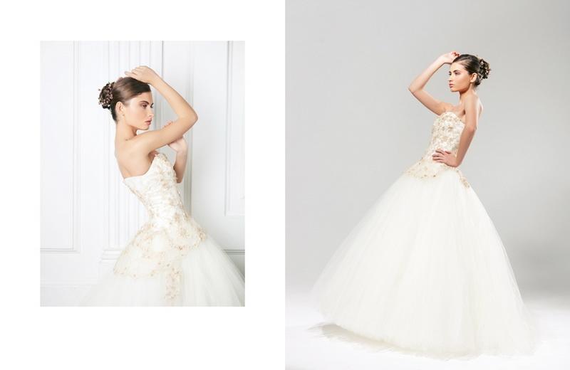 Свадебное платье зима
