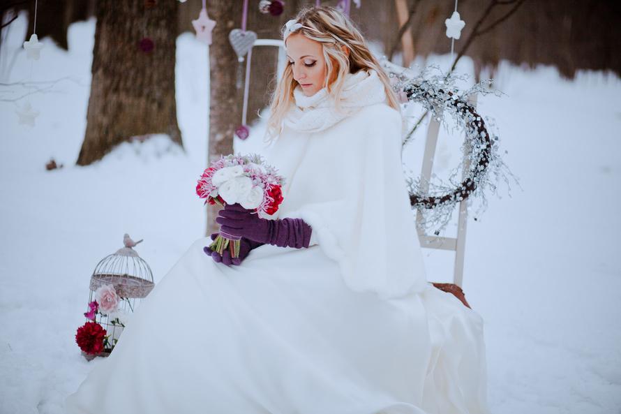 Платье на свадьбу зимой
