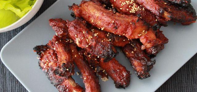 свиные ребрышки на мангале рецепт
