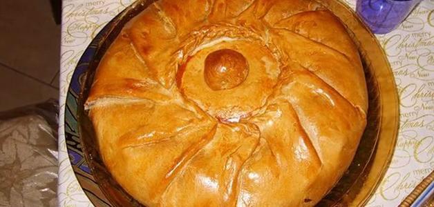 Татарский пирог с курагой
