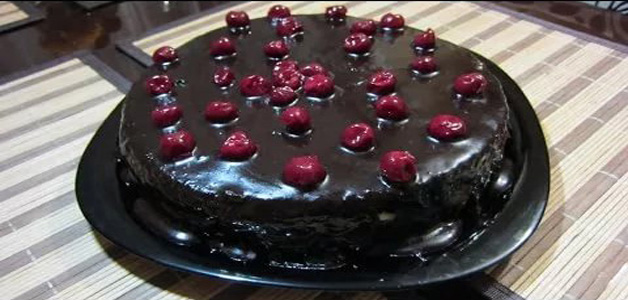 Торт Прага с вишней