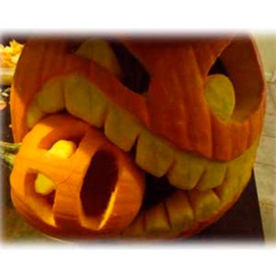 Тыква на хэллоуин из бумаги