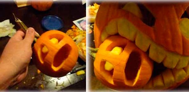 Тыква на хэллоуин фото