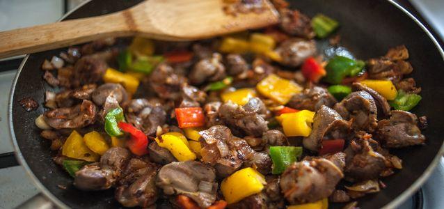 Желудки куриные пошаговый рецепт с