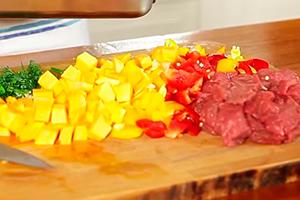 Тыква в духовке с мясом