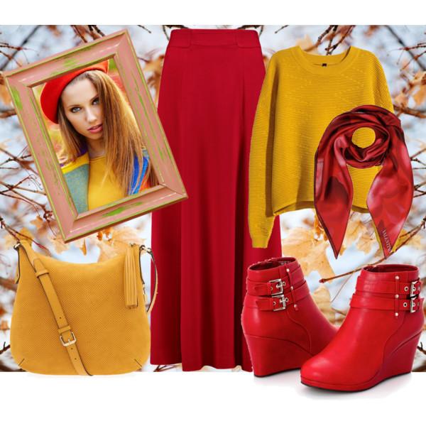 С чем носить осенью юбку