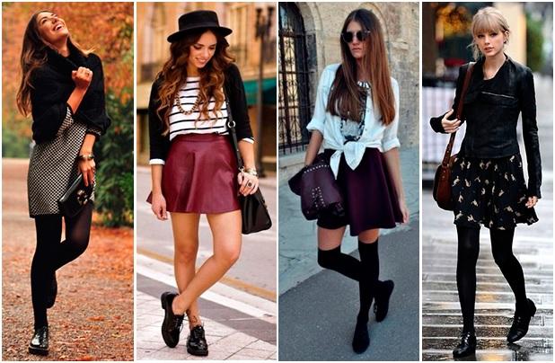 Носить длинную юбку осенью