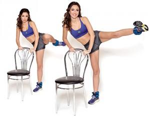 четвертое упражнения со стулом