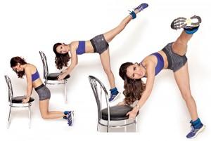 восьмое упражнения со стулом