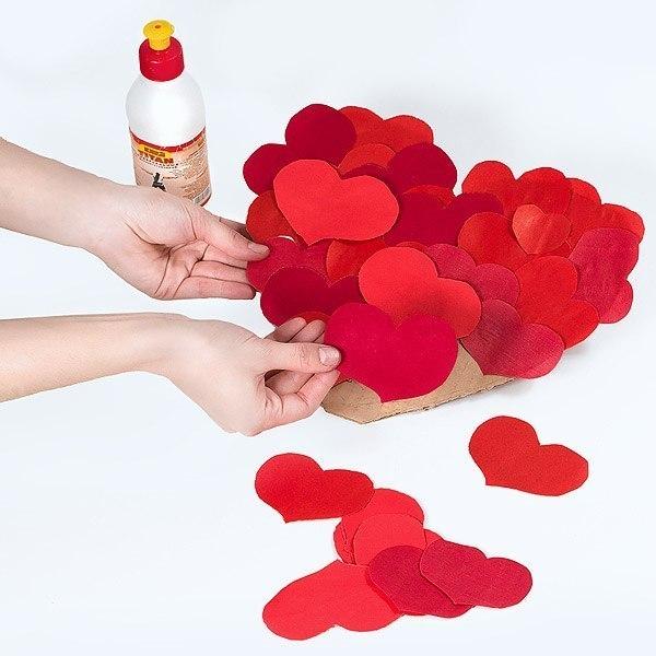 Валентинка своими руками из картона и бумаги