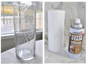 Нанесение краски на вазу