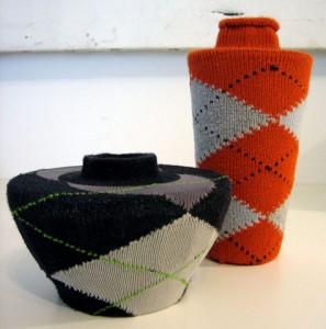 Ваза украшенная носками