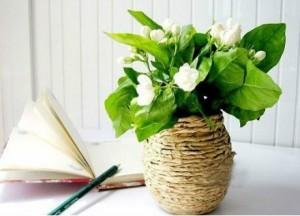Декор вазы бумагой