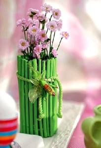 Декор вазы палочками