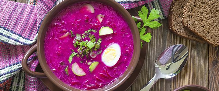 Холодник из свеклы – 5 рецептов летнего супа