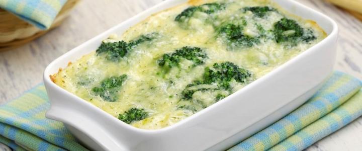 Запеканка из брокколи с сыром