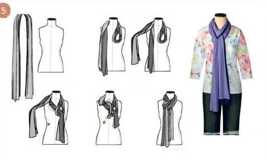 Модное завязывание шарфа