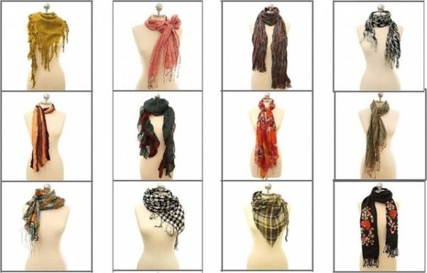 Как красиво завязать шарфы платки палантины