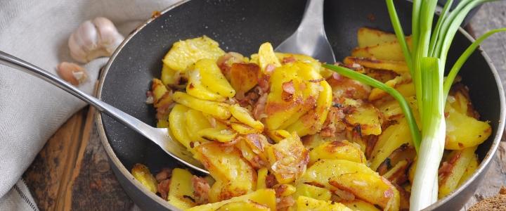 Жаркое из картофеля с беконом